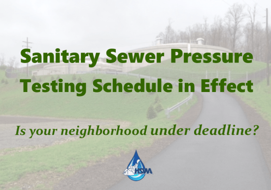 Sanitary Sewer Pressure Testing Schedule Slideshow